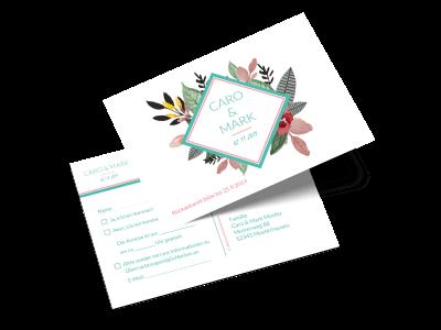 """Antwortkarte """"Blumengedeck"""""""