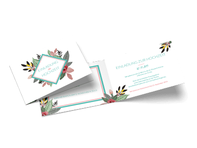 """Hochzeitseinladung """"Blumengedeck"""""""