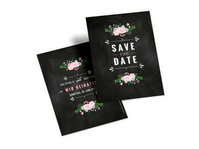 "Save-the-Date-Karte ""Getäfelt"""