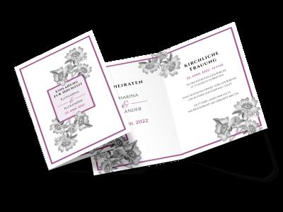 """Hochzeitseinladung """"Timeless Flowers"""""""