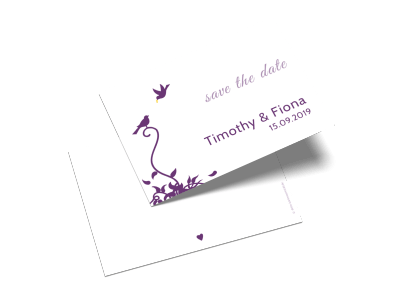"Save-the-Date-Karte ""Lovely Birds"""