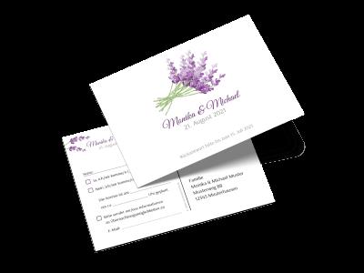 "Antwortkarte ""Lavendel"""