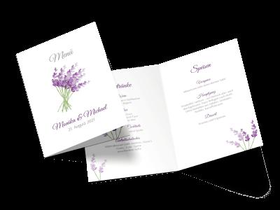 "Menükarte ""Lavendel"""