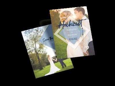 "Save-the-Date-Karte ""Liebe im Quadrat"""
