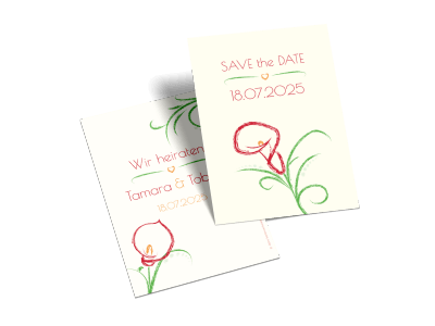 "Save-the-Date-Karte ""Blütenpracht"""