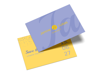 """Save-the-Date-Karte """"Sag Ja"""""""