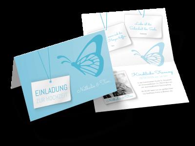 """Hochzeitseinladung """"Schmetterling"""""""