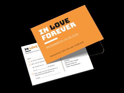 """Antwortkarte """"In love forever"""""""