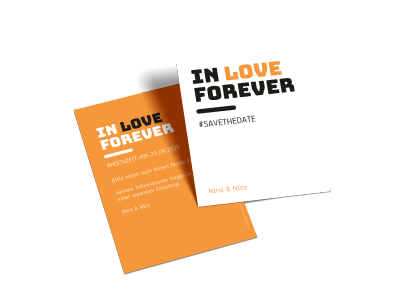 "Save-the-Date-Karte ""In love forever"""