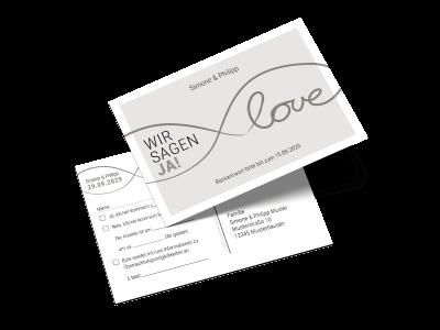 """Antwortkarte """"Ja zur Liebe"""""""