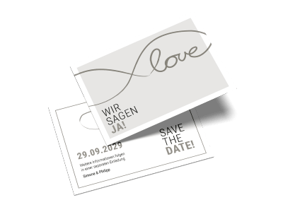 "Save-the-Date-Karte ""Ja zur Liebe"""