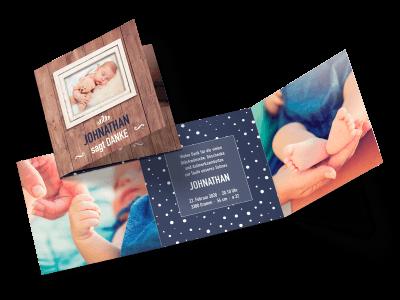 """Danksagungskarte zur Taufe """"Eingerahmt"""""""