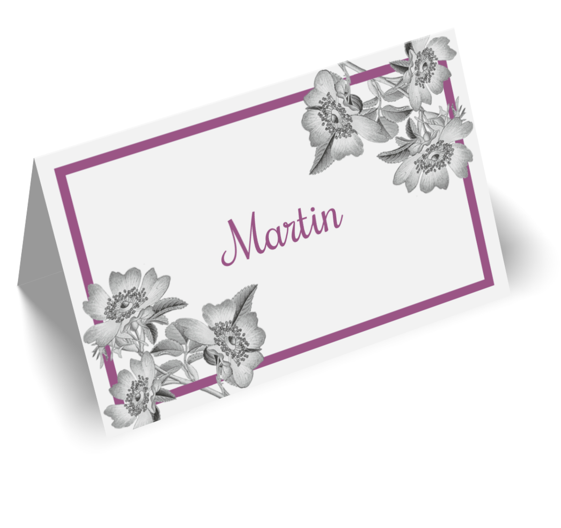 Tischkarten für Hochzeit drucken