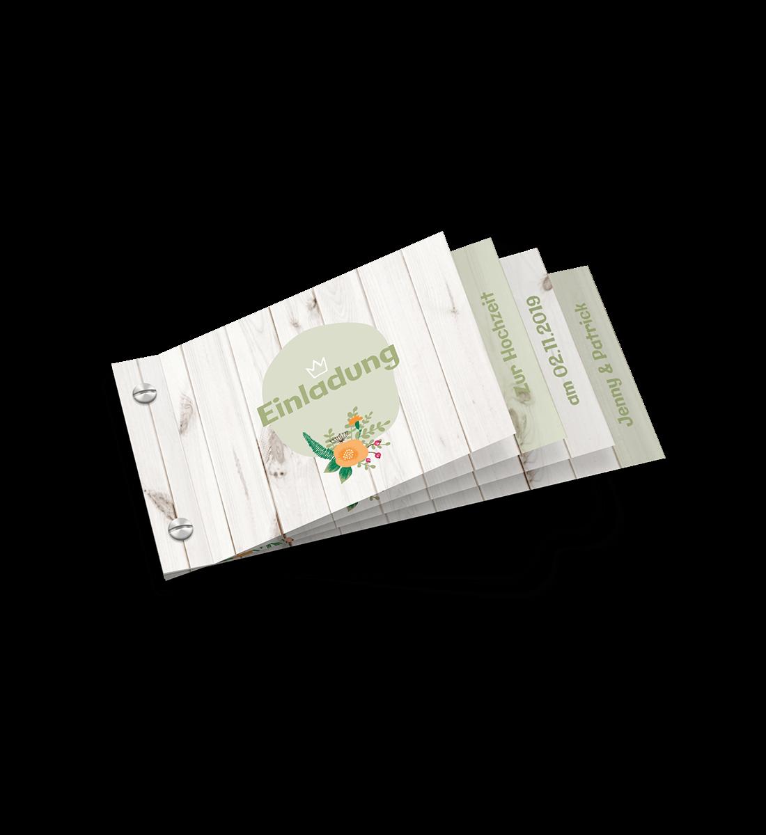 8-seitiger Kartenfächer