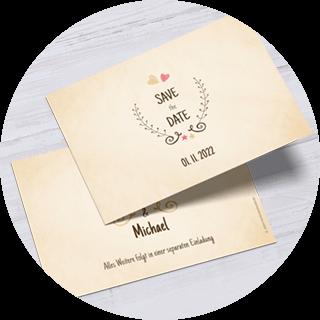 Save-the-Date-Karten im Querformat
